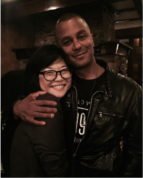 Also feeling the love, Keiko Agena aka Lane Kim posted this sweet photo with Yanic Truesdale (Michel) from the wrap party.