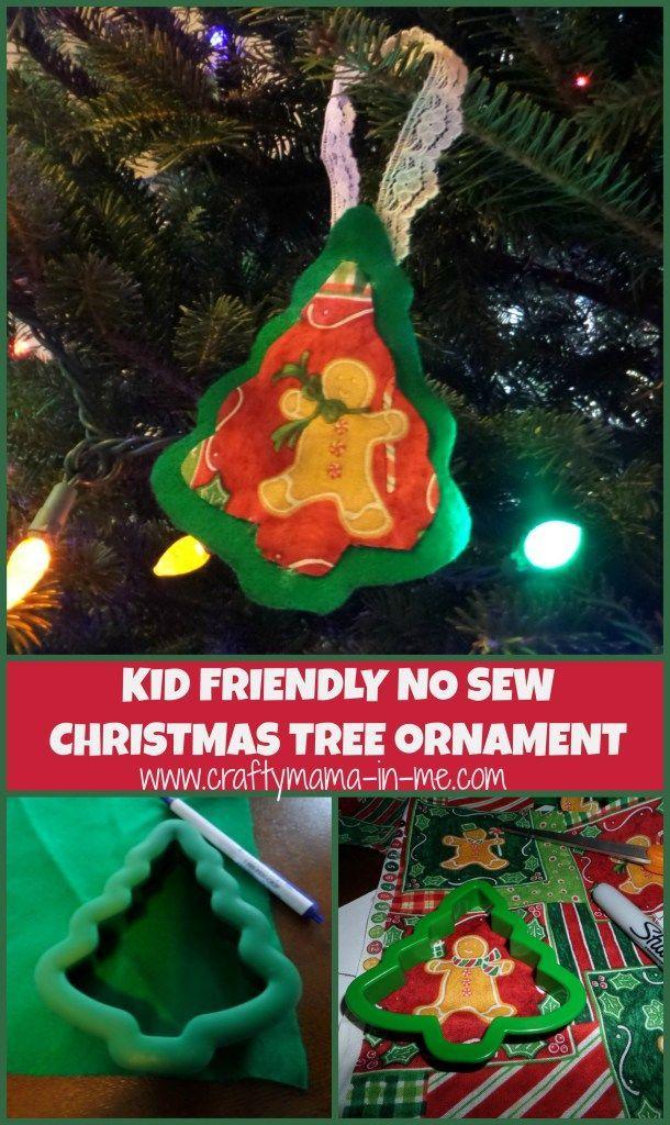 Kid friendly no sew christmas tree ornament christmas for Kid friendly christmas crafts