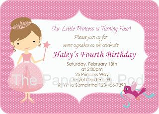 Items Similar To Custom Printable Pink Princess Birthday Party Invitation On Etsy