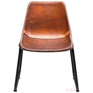 Vintage eetkamerstoel robin design echt leer for Leren kuipstoel eetkamer