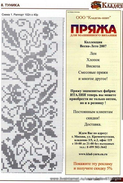 Журнал : Кладезь №1 2007 Машинное вязание. Обсуждение на LiveInternet - Российский Сервис Онлайн-Дневников