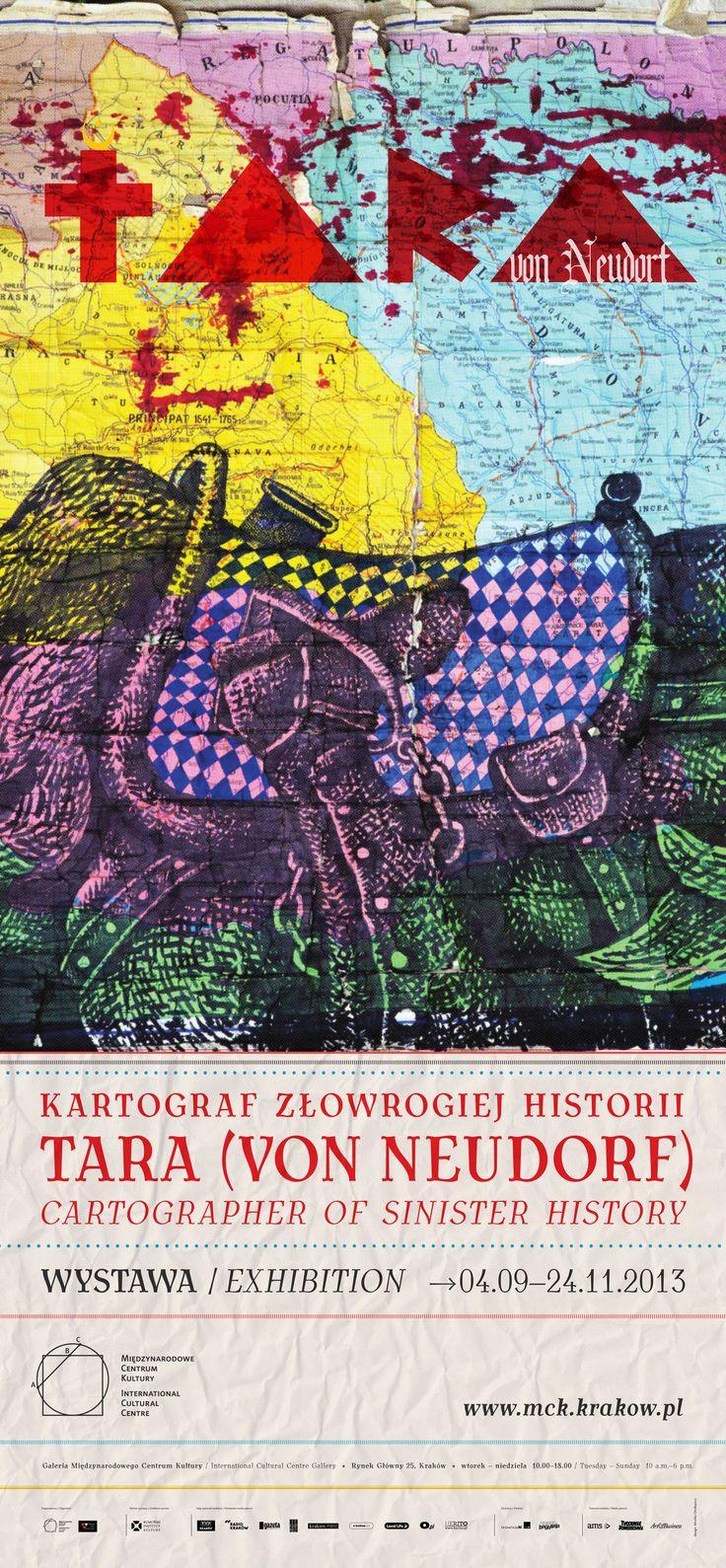 Kartograf złowrogiej historii. Tara (von Neudorf). (04.09.2013 - 24.11.2013) Po raz pierwszy w Polsce Galeria MCK zaprezentowała twórczość rumuńskiego artysty Tary (von Neudorf). Tara najchętniej posługuje się czarnym flamastrem i czerwoną farbą – jego najbardziej znane prace powstały na starych, komunistycznych mapach i planszach szkolnych.
