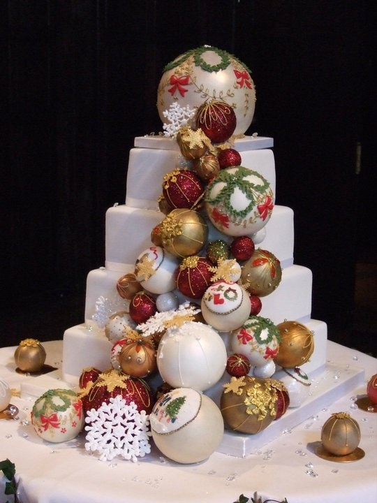 Fab Christmas bauble cake