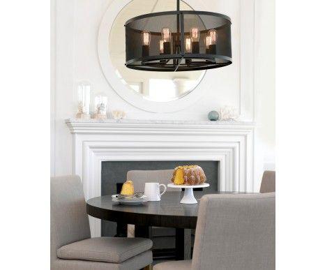 Escala 8 Light Pendant in Antique Black | Pendant Lights | Lighting