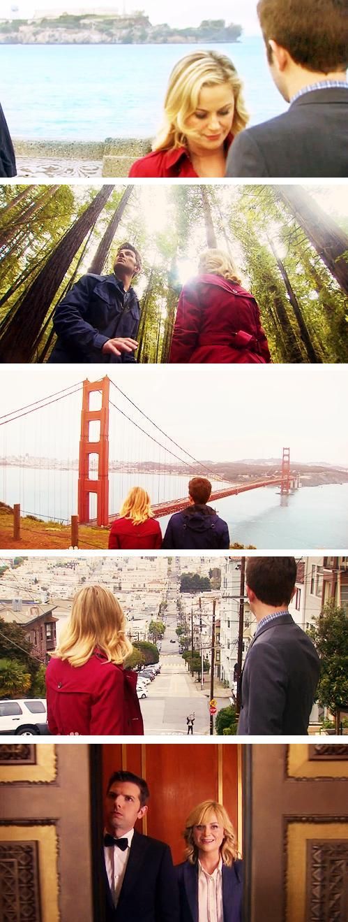 parks and rec Season 6 finale. Ben and leslie <3