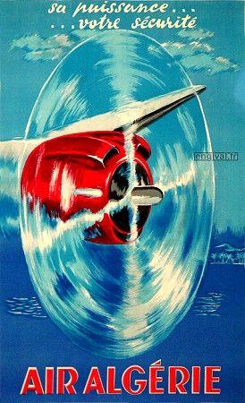 Affiche Air Algérie 1950