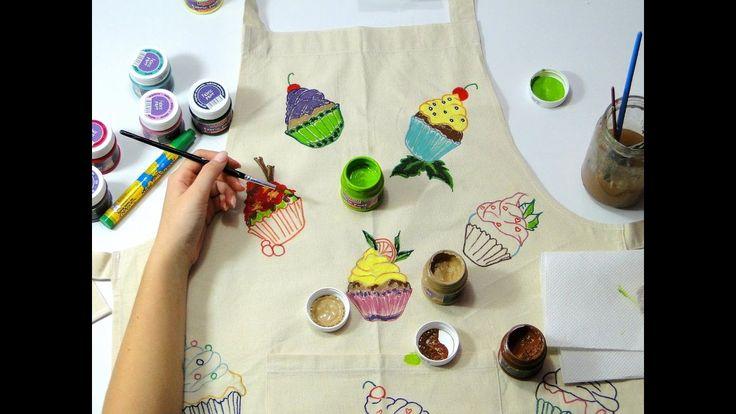 Sort de bucatarie pictat cu vopsele pentru textile ❄❄❄