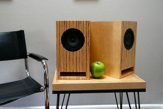 Layered Maple Plywood Speakers  Handmade Full Range Bookshelf/stand mount Speakers on Etsy, 2642:71kr