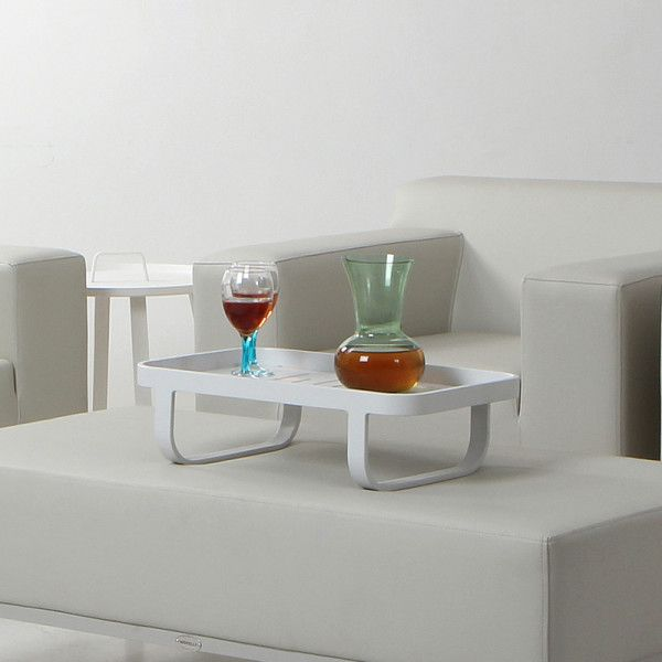 Verona Lap Tray. This aluminium lap tray is perfect for parties over-flowing with guests. It protects against spillages and is a portable, functional extension of style and taste. The lap tray comes in white and is always geared up for an occasion.