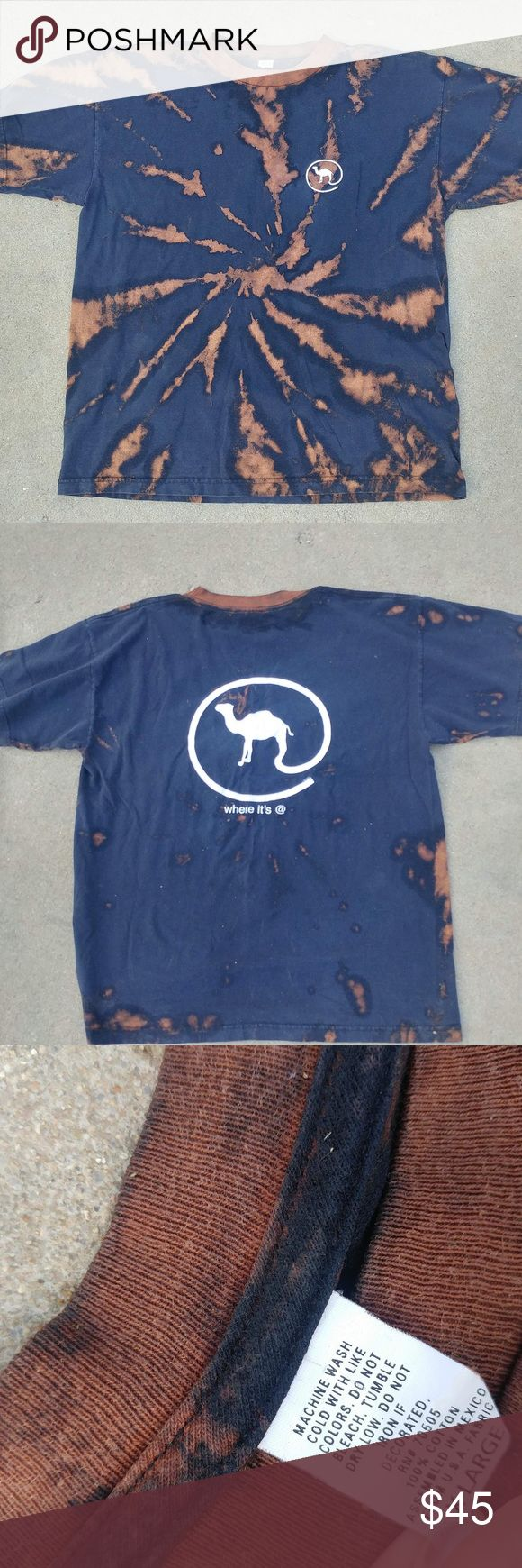 """Vintage Camel tee shirt repurposed reworked 90s Vintage Camel tee shirt """" where it's @"""" 1997. Throwback. Repurposed reworked. Bleach dyed by @lovemaddiejane.  One of a kind Vintage Tops Tees - Short Sleeve"""