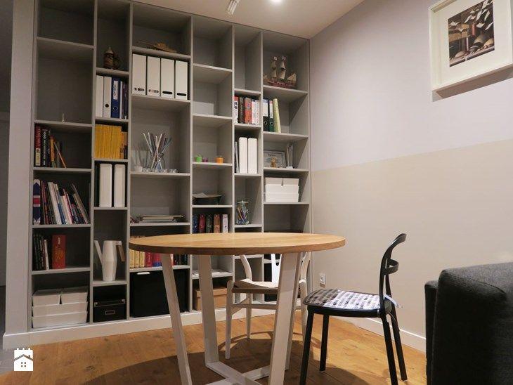 Regał na wymiar do salonu na książki - zdjęcie od Szafawawa