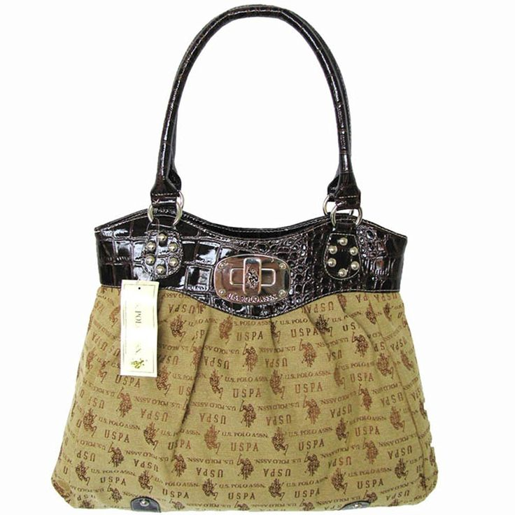 U.S. Polo Assn. Womens 'Lockdown Jacquard' Double Handle Tote Bag ** To view further for this item, visit the image link.