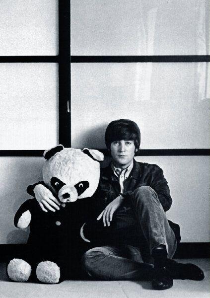 John LennonThe Beatles, Stuffed Toys, Funny Things, Happy Birthday, Teddy Bears, Giants Pandas, Beautiful Boys, John Lennon