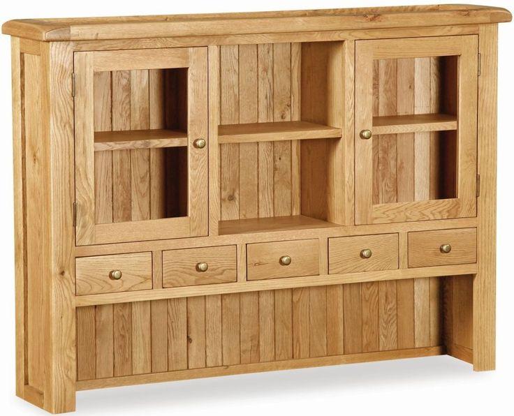 Salisbury Oak Large Hutch - Ideal Furniture