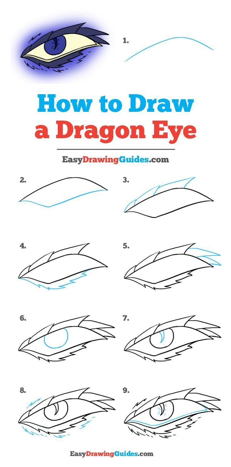 How To Draw A Dragon Eye Really Easy Drawing Tutorial