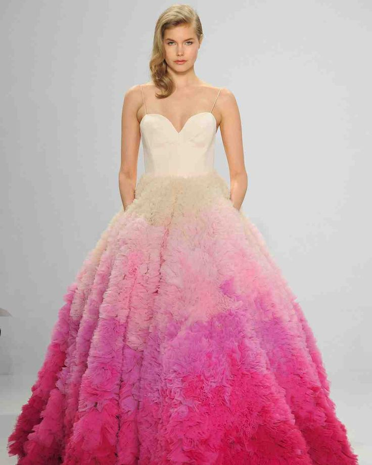 85 best colorful wedding dresses images on pinterest the 9 best wedding dress trends from bridal fashion week junglespirit Gallery