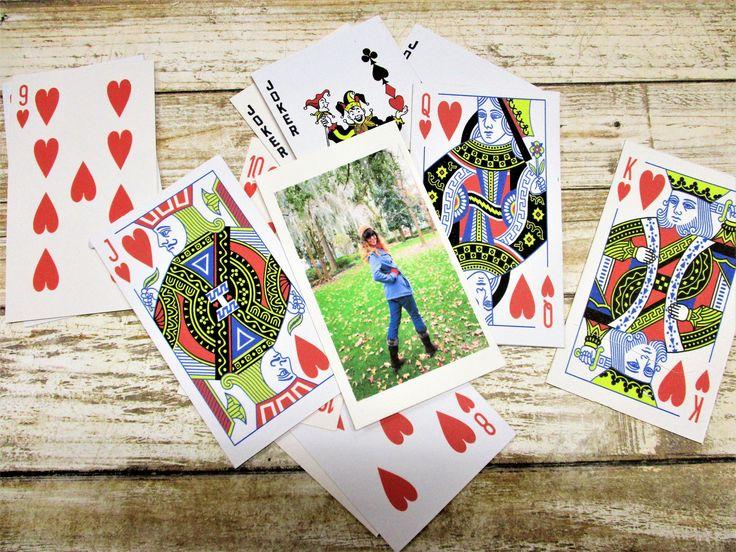 playing card decks with custom photo christmas gift