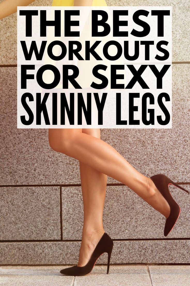 8 Slimming Leg Workouts You Can Do Anywhere | Want to know how to get skinny legs fast? You're in luck! Whether you like to workout at the gym or at home, we've got 8 no equipment workout videos for women to help you tighten and tone your inner and outer thighs and get sexy, skinny legs. Perfect for beginners, runners, and everyone in between, we've even included a 30-day thigh slimming challenge to keep you motivated!