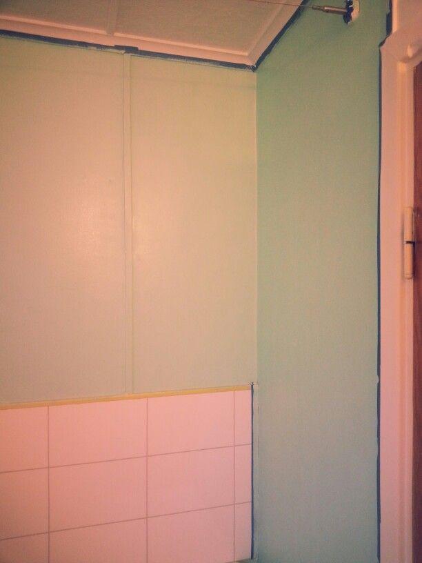 Mint green 50s bathroom diy