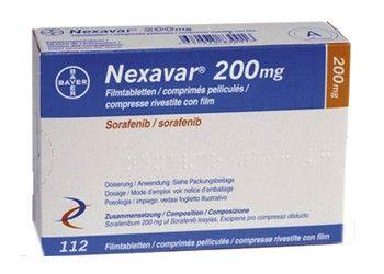 Bayer Nexavar 200 mg Sorafenib tablets  Nexavar Tablets Specification: Brand Name : Nexavar  Active Ingredients : Sorafenib Tosylate Manufactured by: Bayer Schering Pharma AG Strength: 200 mg Form: Tablets Packing: Pack of 60 Tablets