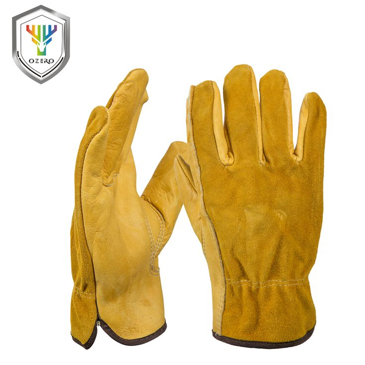 Ozero new luvas de couro motorista proteção de segurança desgaste do trabalho dos homens de segurança dos trabalhadores de soldagem luvas de moto para os homens 0007