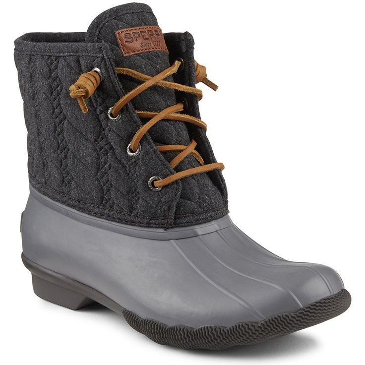 womenu0027s saltwater rope embossed duck boot in grey by sperry - Duck Rain Boots