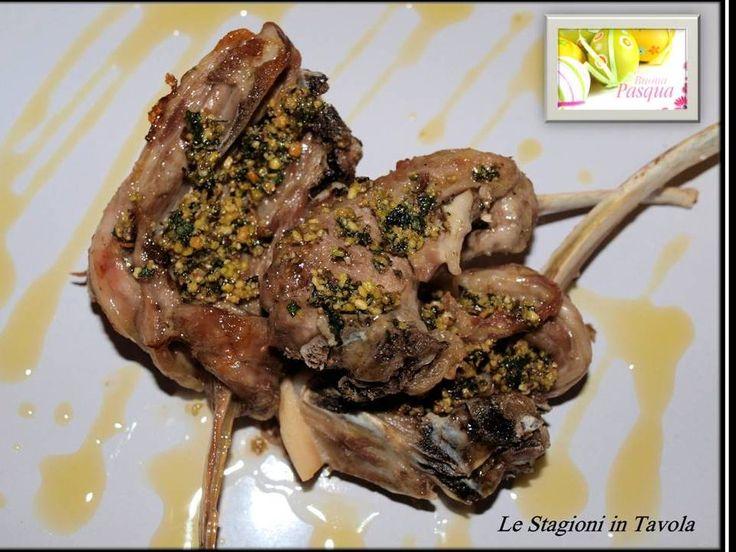 Le Stagioni in Tavola: Pasqua: Costolette di Agnello con pesto di menta e pistacchi