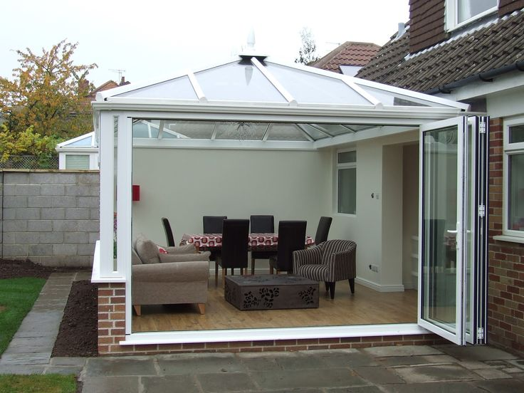 Exterior White Polished Stainless Steel Bi Fold Patio Door Combined Modern  Sun Room Furniture Bi Fold