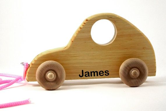 Personalized Wooden Pull Toy  Kids Birthday Gift  by shiragay