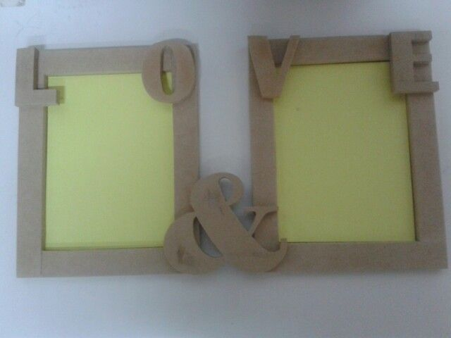 Cuadros con letras en mdf.