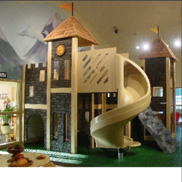 Home indoor playground for when it's too cold or raining to go out