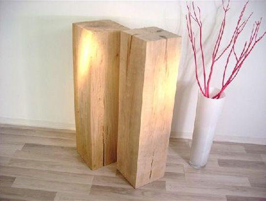 g nstige massive holzbl cke holzs ulen holzkl tze in buche. Black Bedroom Furniture Sets. Home Design Ideas