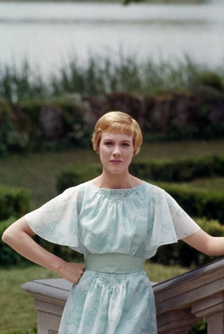 Julie Andrews on the set of The Sound of Music, 1964.