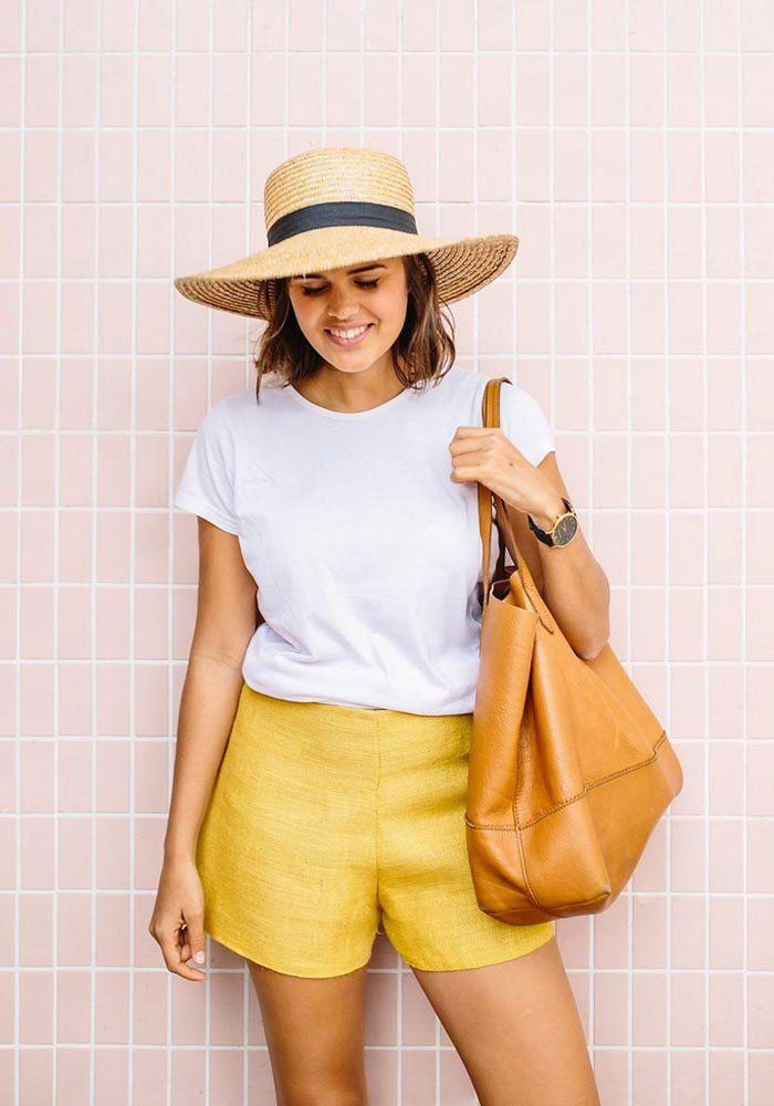 Short en lin jaune - A pair and a spare - Marie Claire Idées