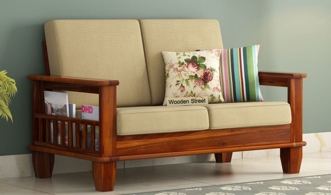 Buy Quartz 2 Seater Wooden Sofa Online In India Wooden Sofa Set Simple Bed Sofa Set