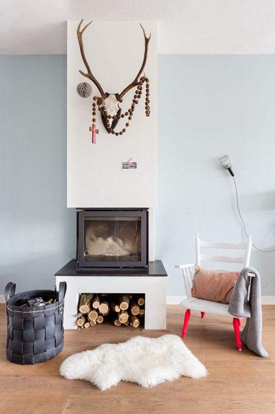 like this simple fireplace