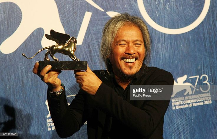 Director Lav Diaz with Gold Lion for the movie 'Ang Babaeng Humayo (The Woman…