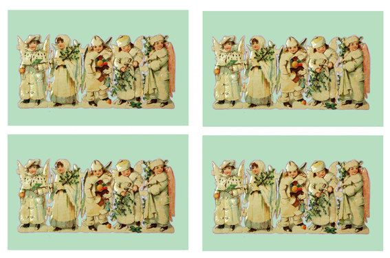 Digital Download Victorian Style Xmas by TheAtticofKitsch on Etsy