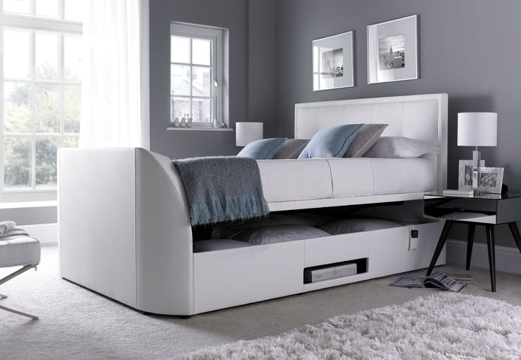the windermere king size tv bed the windermere electric tv bed is the latest kaydian design. Black Bedroom Furniture Sets. Home Design Ideas