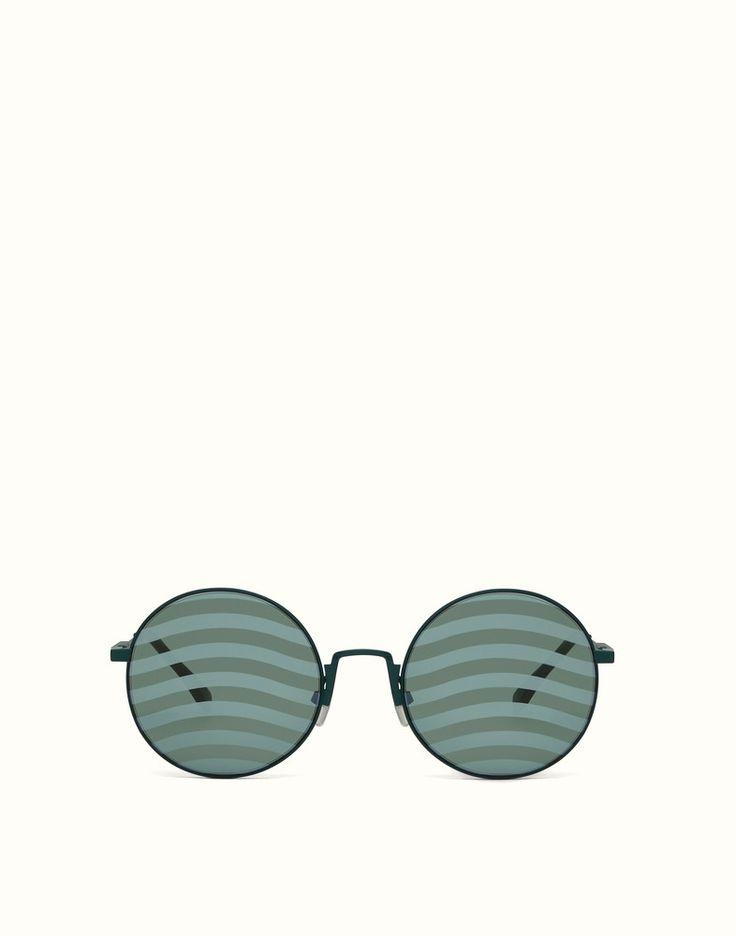 FENDI WAVES - Lunettes de soleil vertes