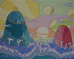 Bilderesultat for waves painting japanese