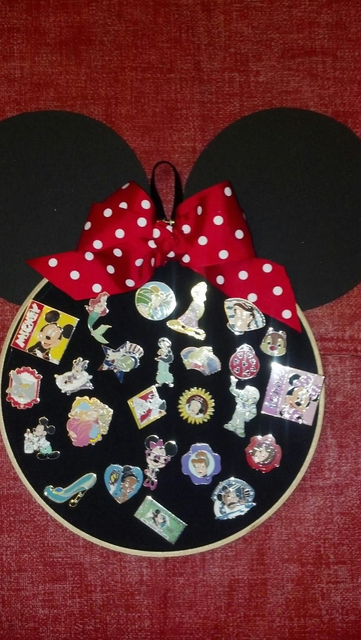 Disney pin display much prefer this to the lanyard option