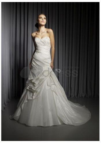 Abiti da Sposa in Pizzo-Taffettà innamorato gonna abiti da sposa in pizzo