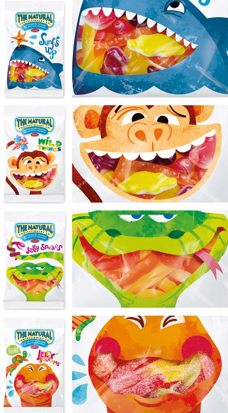 MouthWindows Candy Packaging Design - Food and Kids