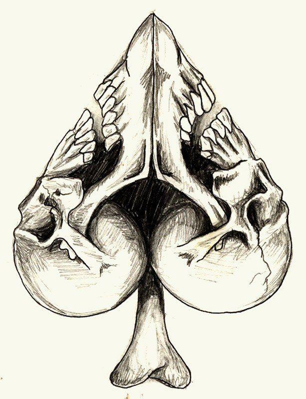 Spades Skull Tattoo Design                                                                                                                                                                                 More