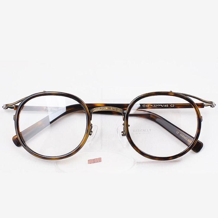 Hand Made Vintage Eyeglasses Women Glasses Round Fashion Spectacles Men glasses #Loid
