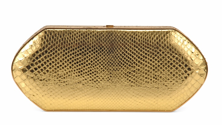 Hunting Season Yellow Gold Python Compact Case
