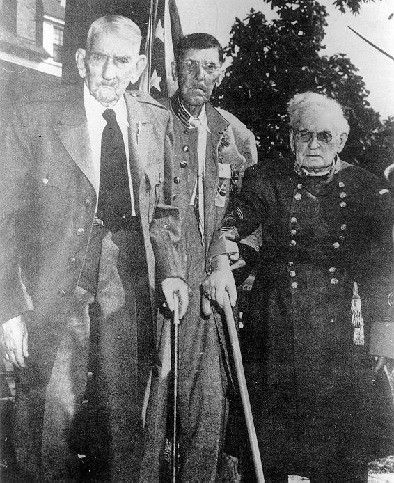 Out of the approx. 750,000 soldiers that fought for the South, these were the last three surviving Confederate Civil War veterans. Photo taken in 1951