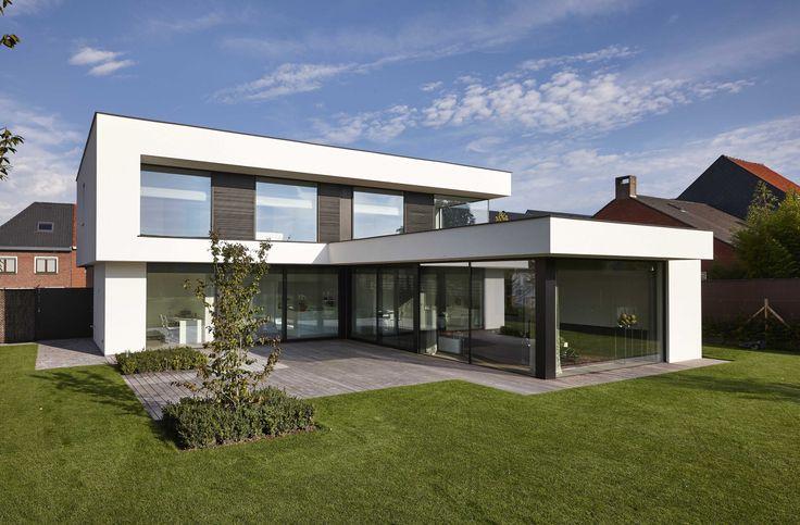 25 beste idee n over moderne huizen op pinterest moderne architectuur modern woningexterieur - Moderne uitbreiding huis ...