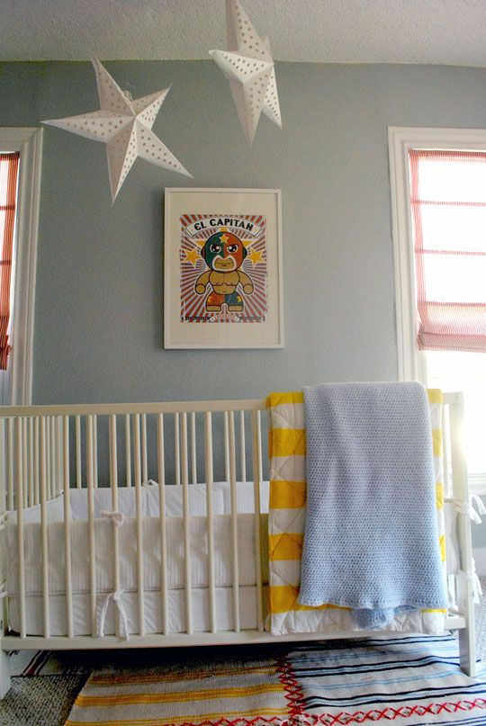 Lucha LibreWall Colors, Yellow Stripes, Stars Lights, Kahlo Super, Wrestling, Gray Walls, Libre Room, Baby Room, Babies Rooms